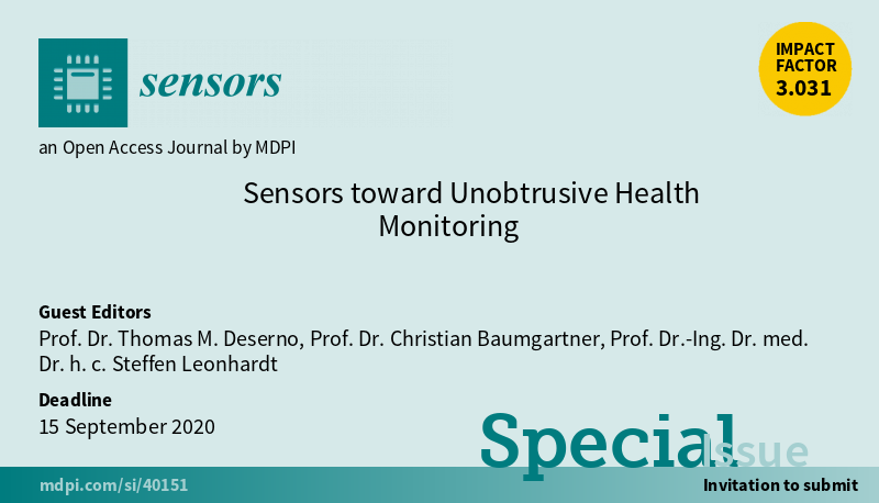 "Gastautor in der Sonderausgabe ""Sensors toward Unobtrusive Health Monitoring"""